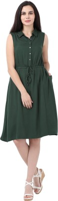 Amari West By Inmark Women T Shirt Green Dress