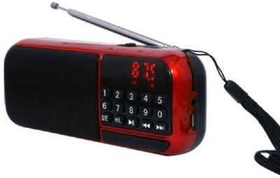 CRETO Latest best quality fm radio high sound supports memory card ,headphone out, FM Radio(Red, Black)