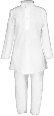 FTC FASHIONS Boys Formal Kurta and Pyjama Set(White Pack of 1)  available at flipkart for Rs.225