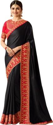 84b1b7e11e7 View Fashion Fiza Embroidered Fashion Silk Saree(Black) Price Online