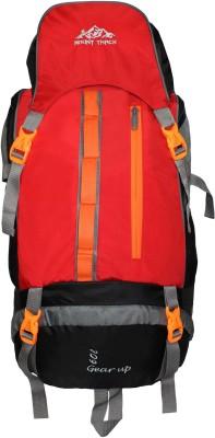 MOUNT TRACK Gear up Rucksack, Hiking Trekking Backpack with Rain Cover Rucksack   60 L Red MOUNT TRACK Rucksacks