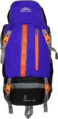 Mount Track Gear up Rucksack, Hiking Trekking Backpack with Rain Cover Rucksack(Blue, Backpack)
