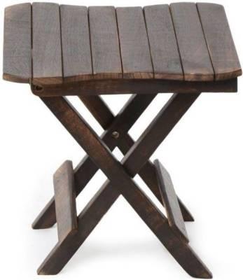 CraftOnline wooden folding stool Living & Bedroom Stool  (Brown)
