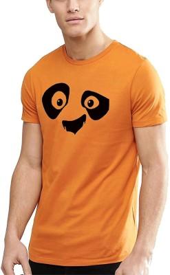 Young Trendz Printed Men Round or Crew Orange T-Shirt