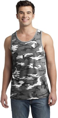 Smartees Military Camouflage Men's Round Neck White T-Shirt