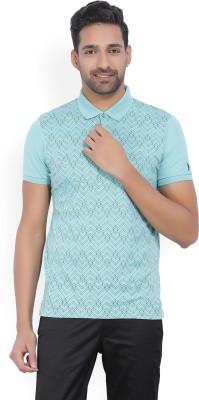 Arrow New York Printed Men's Polo Neck Light Green T-Shirt