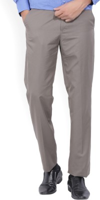 John Miller Regular Fit Men's Brown Trousers