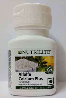 Amway Nutrilite Alfalfa Calcium Plus – 90 Tablets'(90 mg)