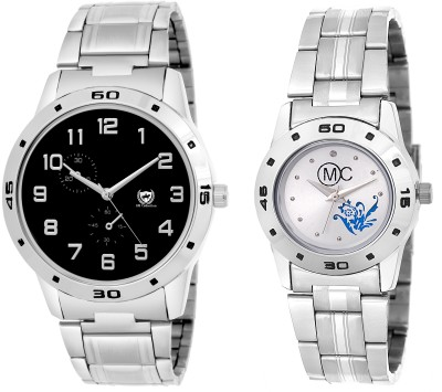 OM COLLECTION analog mens and ladies /Womens watch combo_omwt-5(Set of 2) Watch  - For Men & Women   Watches  (OM Collection)
