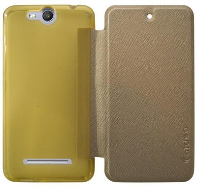 Coverage Flip Cover for Micromax Canvas Juice 3 Q392 Golden