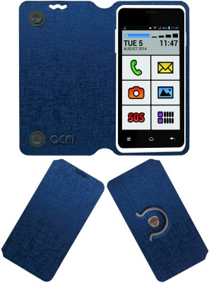 ACM Flip Cover for Mitashi Ap103(Blue, Cases with Holder)