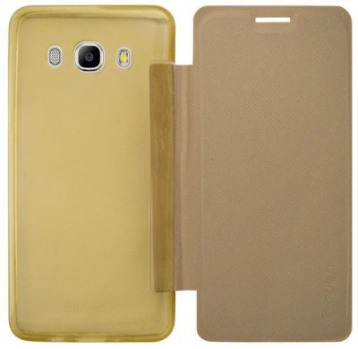 COVERNEW Flip Cover for Samsung Galaxy J5   6  New 2016 Edition  Gold