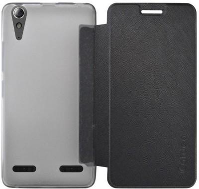 Coverage Flip Cover for Lenovo A6000 Plus Black