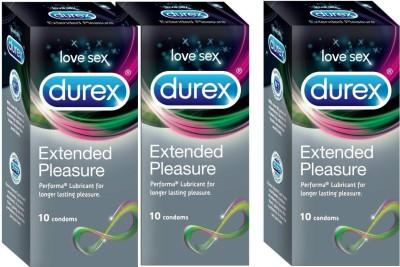 Durex Extended Pleasure, Condom(Set of 3, 30S)