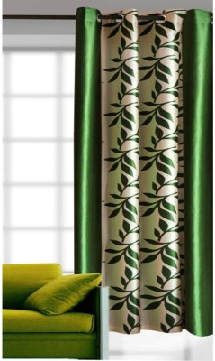 G S COLLECTIONS Polyester Door Curtain 212 (6 ft) Single Curtain(Floral Kolavery Green, Printed Floral curtains)  available at flipkart for Rs.211