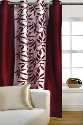 G S COLLECTIONS Polyester Window Curtain 152 Single Curtain(Floral Kolavery Maroon, Printed Maroon Curtains)  available at flipkart for Rs.188