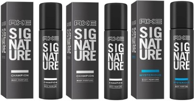 axe signature 2 champion 1 mysterious combo pack Deodorant Spray  -  For Men(360 ml, Pack of 3)