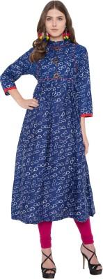 Metro Fashion Women Embellished Anarkali Kurta(Dark Blue)
