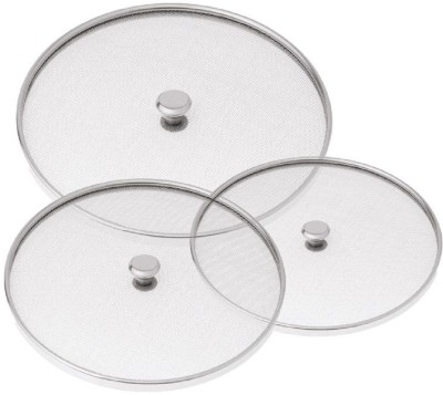 Kuber Industries Stainless Steel Food Cover/Milk cover Jali/Steel Jali/Multipurpose Net Lid Set of 3 Pcs (10 & 11 & 12 Inches) Code-Net37 7 inch Lid(Steel)  available at flipkart for Rs.529