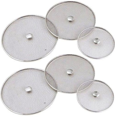 Kuber Industries Stainless Steel Food Cover/Milk cover Jali/Steel Jali/Multipurpose Net Lid Set of 6 Pcs (7 & 8 & 9 & 10 & 11 & 12 Inches) Code-Net40 7 inch Lid(Steel)  available at flipkart for Rs.999