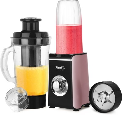 Pigeon Sapphire 220 W Juicer(Sapphire Multi Utility Blender And Smoothie Maker Black, 2 Jars)