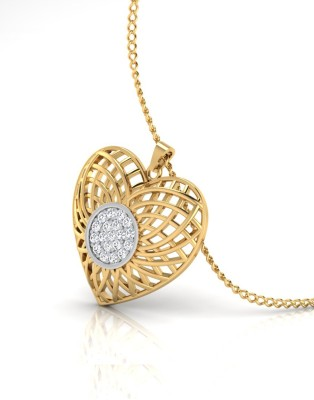 IskiUski Swirl Drop Pendant Gold plated Swarovski Crystal Sterling Silver Locket IskiUski Pendants   Lockets