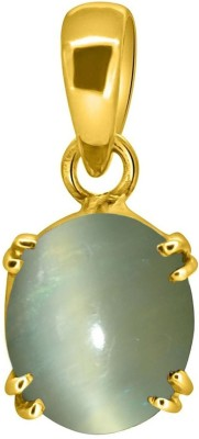 Tejvij and Sons 7.25 Ratti Cats Eye Pendent Ashthadhatu with Gold Plated For Men & Women… Yellow Gold Cat