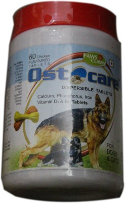 PAWS&CLAWS Calcium Supplement Tablet(60 tablets)  available at flipkart for Rs.180