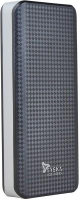 Syska Power Shell 100 Power Bank, 10000 mAh (Black-Grey)