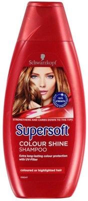 Schwarzkopf Supersoft Colour Shine Red Berries Shampoo, Highlighted Hair - 400ml(400 ml)