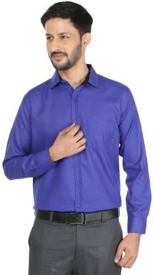 Mark Pollo London Men Solid Formal Linen Blue Shirt  available at flipkart for Rs.399