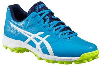 Asics GEL-HOCKEY NEO 4 Hockey Shoes For Men(Blue, Yellow)