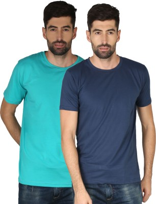 NCY Solid Men Round Neck Multicolor T-Shirt(Pack of 2)