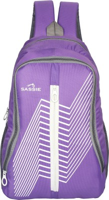 SASSIE SCHOOL BAG Waterproof Backpack(Purple, 21 L)