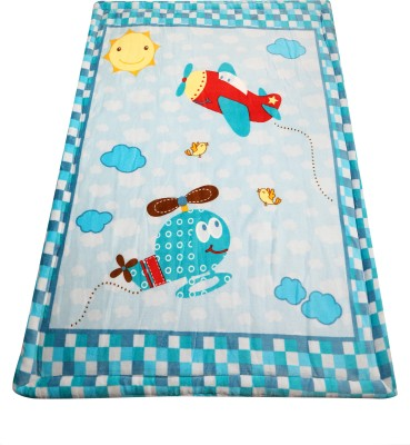 Offspring Cartoon Single Blanket(Polyester, Multicolor)