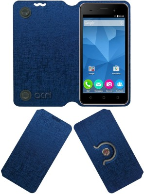 ACM Flip Cover for Micromax Canvas Spark 2 Plus Q350(Blue, Cases with Holder, Artificial Leather)