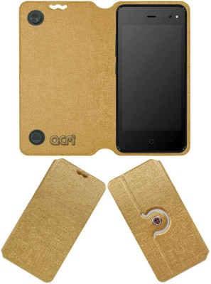 ACM Flip Cover for Karbonn Indian 9 Gold, Cases with Holder ACM Plain Cases   Covers