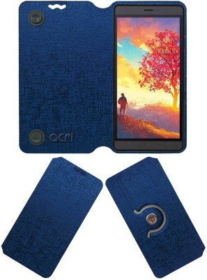 ACM Flip Cover for Karbonn Aura Note Play(Blue, Cases with Holder, Artificial Leather)
