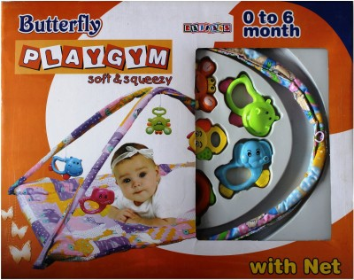 Toyswala Butterfly Playgym Soft & Squeezy with Net(Multicolor)
