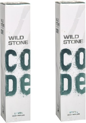 Wild Stone Code Steel Body Perfume set of 2 Perfume Body Spray  -  For Men(120 ml, Pack of 2)