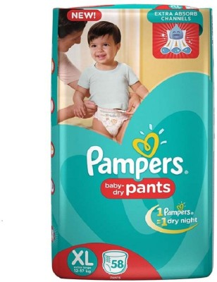 Pampers Pants Baby Diapers, XL 58 Pieces