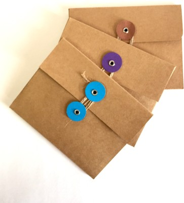 MACRO Pack of 5 envelopes with jute holder envelopes(Pack of 1 Brown)  available at flipkart for Rs.130
