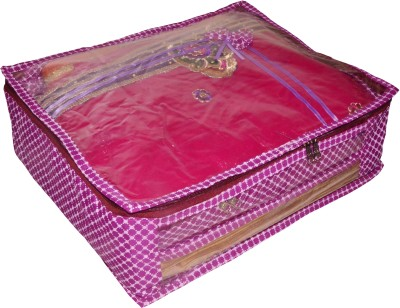 Funkroo High Quality Pack of 1 Polka dot 6 inch Designer Height Saree Cover Gift Organizer bag vanity pouch Keep saree/Suit/Travelling Pouch(Pink)  available at flipkart for Rs.213