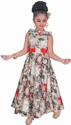 Je Taime Mumum Girls Maxi/Full Length Party Dress(Red, Sleeveless)