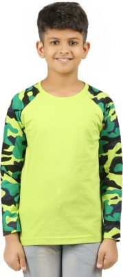 Clifton Boys Military Camouflage Cotton T Shirt(Multicolor, Pack of 1)