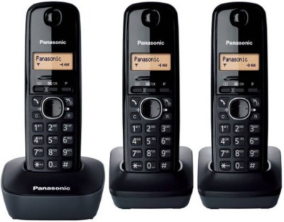 Panasonic KX-TG1613 Cordless Landline Phone(Black)  available at flipkart for Rs.7000