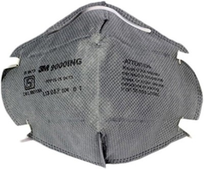 Vezual 3M 9000ING Safety Grey Mask for protection against Dust / Pollution / Disposable P1 Class (Pack of 3) Mask and Respirator