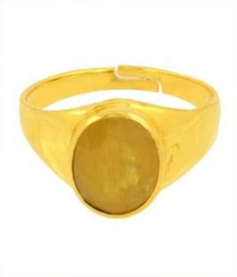 Jaipur Gemstone 7 Carat Panchdhatu Metal Sapphire Ring