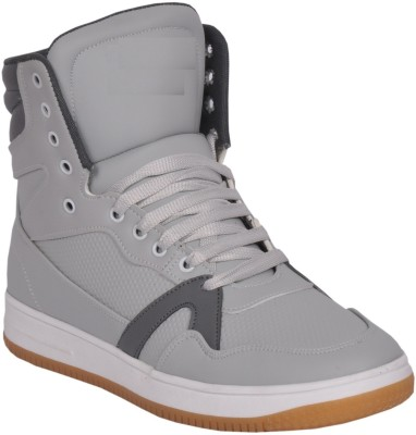 West Code Westcode Mens Boots Synthetic leather High Top Casual Sneaker Online Shoes 9017 -Grey -8 Basketball Shoes For Men(Grey)
