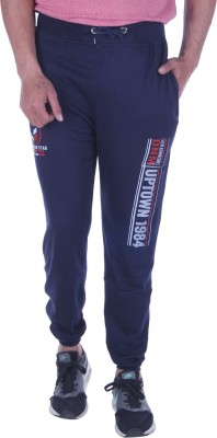 Oh Yes Printed Men's Dark Blue Track Pants